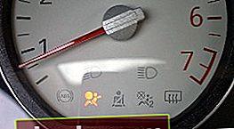 Lámpara de airbag del salpicadero