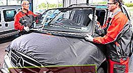 Reemplazo de vidrio en un automóvil