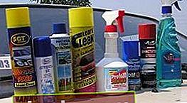 Detergente per vetri per auto