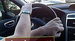 Golpear al girar el volante