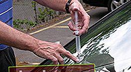 Reparación de astillas y grietas en el parabrisas de un automóvil.