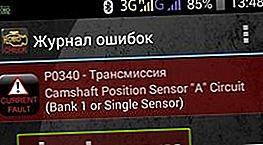 P0340 - errore sensore albero a camme