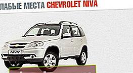 Punti deboli Chevrolet Niva