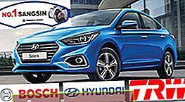 Pastiglie freno per Hyundai Solaris