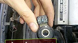 Reemplazo del sensor de detonación en el Nissan Cefiro / Maxima A32